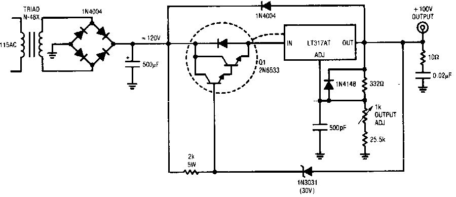 high voltage regulator circuit diagram