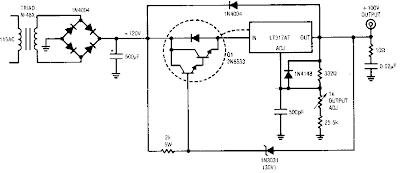high voltage regulator circuit diagram