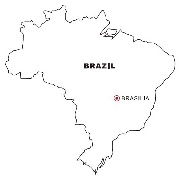 brazil map coloring page brazil map to color