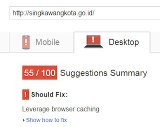 test web singkawang kota pagespeed desktop