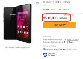 Infinix Hot 2 price