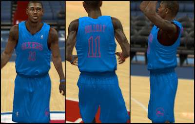 NBA 2K13 Philadelphia 76ers Christmas Jersey