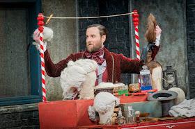Nicholas Lester in Il Barbiere di Sivigla at Opera Holland Park; Photo Robert Workman