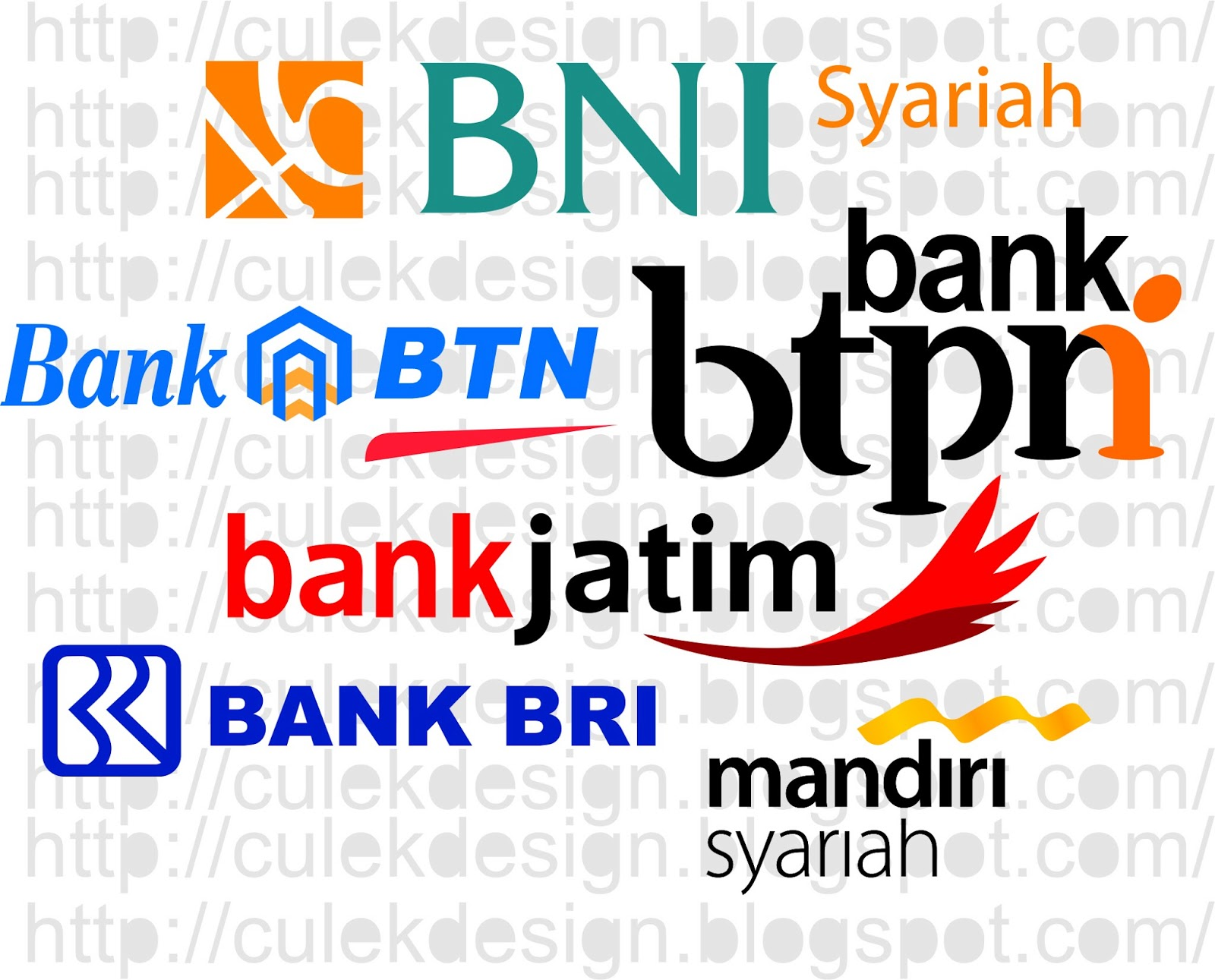 culek design kumpulan logo bank bordir dan vector