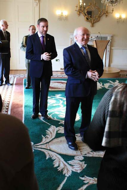 Der Präsident von Irland, Michael D. Higgins