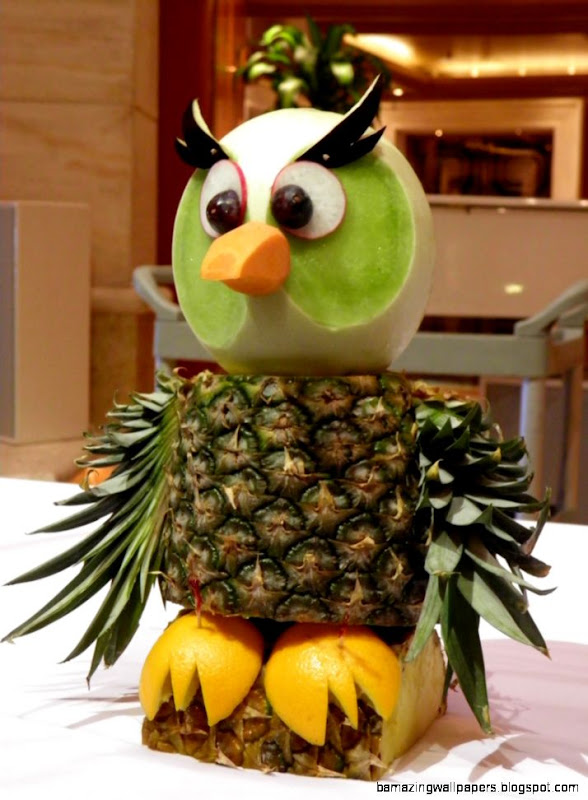 Owl Fruit and Vegetable Carving  Photo taken on the Ruby Pr…  Flickr