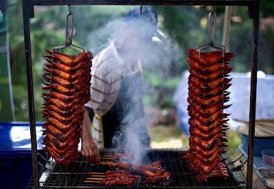 Islam, Ramadan, Bazaar, Kuala Lumpur, Celebration, Roast, Chicken, Fast, Break, Muslim, Religion, Business, Food, Stall, Worker,