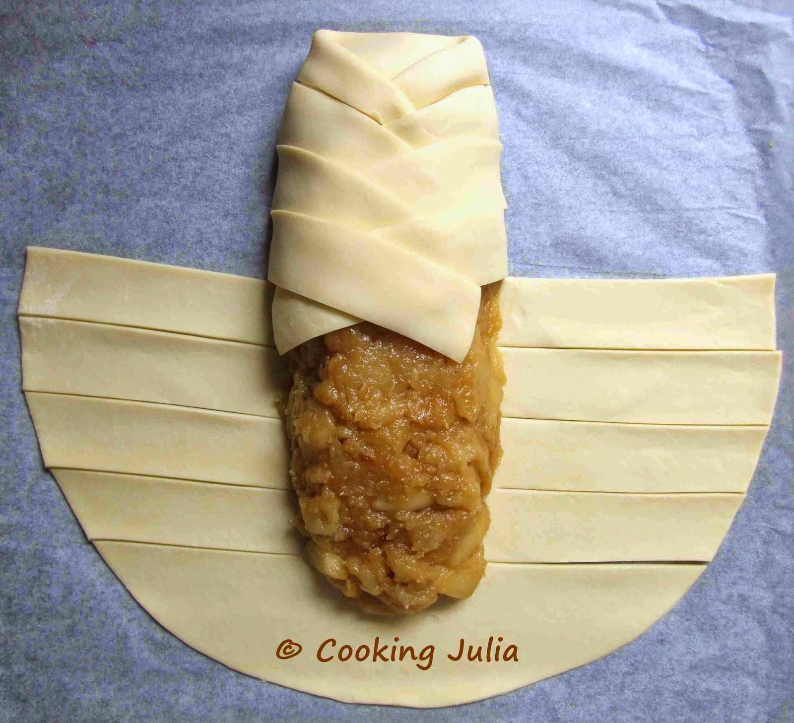 Superbe COOKING JULIA : FEUILLETÉ TRESSÉ AUX POMMES @HE_94