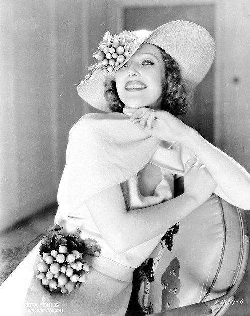 Loretta Young #1930s #hat #30s #dress #vintage #fashion