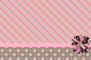 Marrom E Rosa     Kit Completo   Molduras Para Convites  R  Tulos