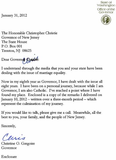 Arizona Governenor Letter Template