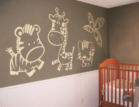 Ideas para decorar paredes for Sticker habitacion infantil