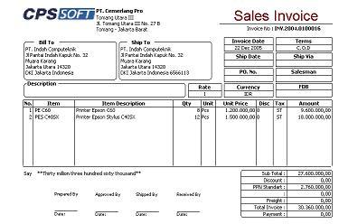 Contoh Nota Penjualan Salon Daftar Contoh J