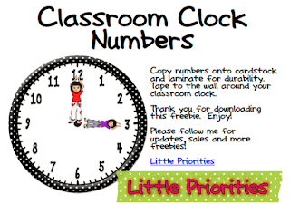 https://www.teacherspayteachers.com/Product/Classroom-Clock-Numbers-Count-by-5s-296431