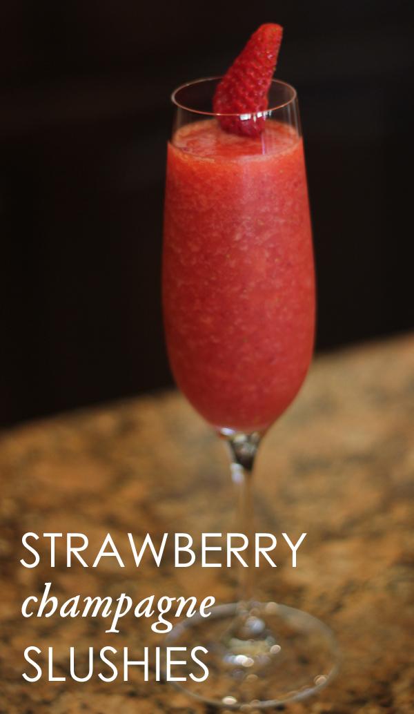 ... california: Summer Cocktail Recipe: Strawberry champagne slushies