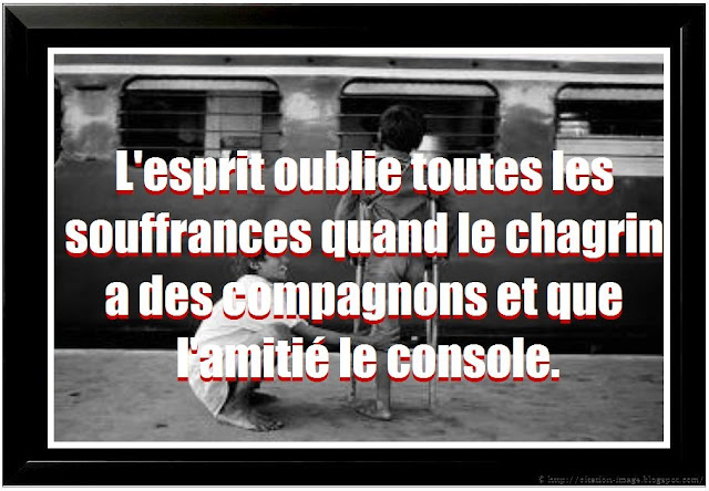 Citation sur la souffarnce en image
