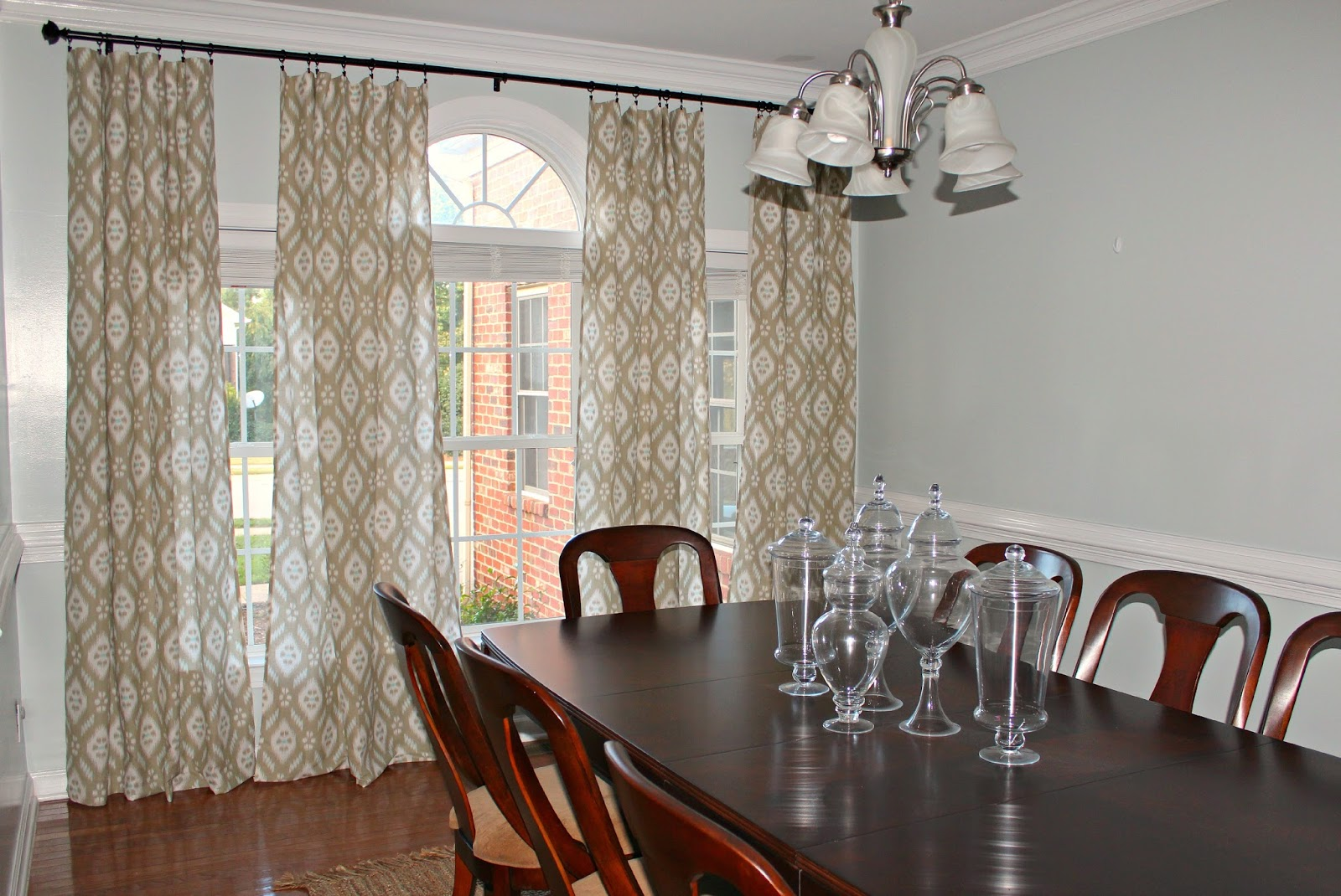 Dining Room: Ikat Curtains