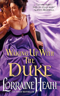 Book cover of Waking Up with the Duke by Lorraine Heath (historical romance novel)