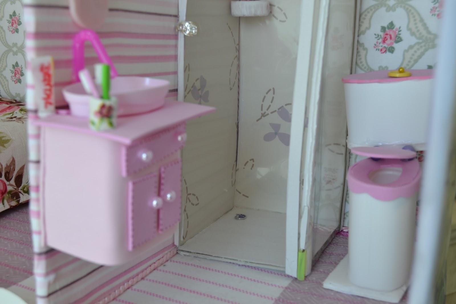 de como fazer um lavatorio pia para o banheiro da Barbie no nosso #7E4D62 1600x1066 Banheiro Da Barbie Para Comprar