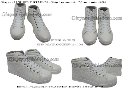 Giày nam cao Linhkent GT232. 75