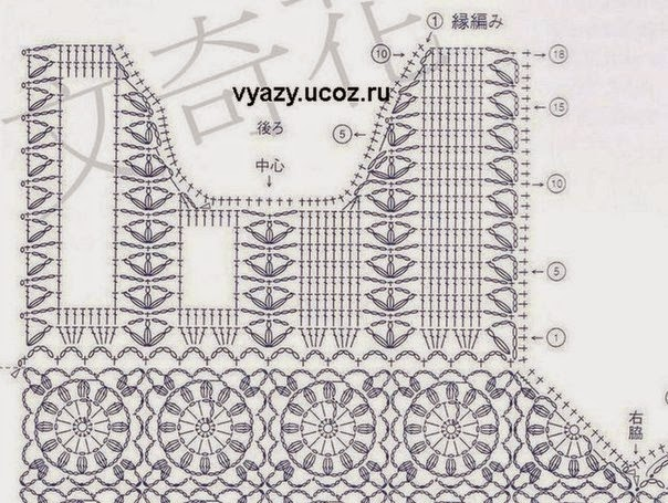 The best in internet crochet chart free crochet charts for timeless vest ccuart Choice Image