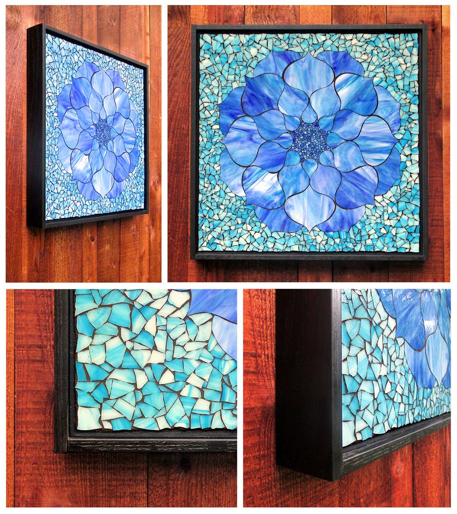 Kasia Mosaics Blue Lotus Mosaic