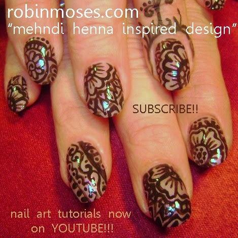Nail Art - Elegant, Black tie, Formal, Wedding Nails! - Nail Art By Robin Moses: