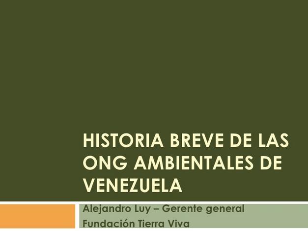 De ONG Ambientales en Venezuela
