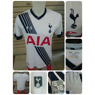 gambar detail photo kamera Jersey Tottenham Hotspurs home terbaru musim depan 2015/2016 di enkosa sport toko online jersey bola terpercaya