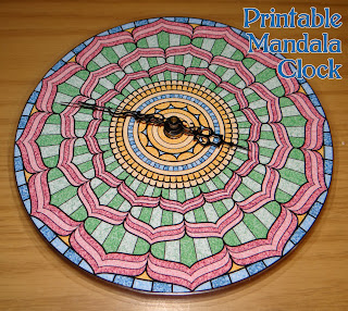 Printable Mandala Clock Project
