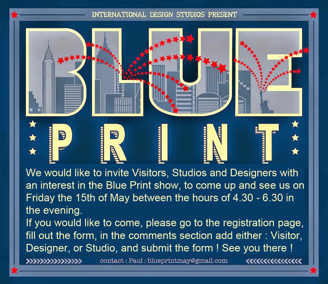 Blueprint show blueprint design show may 2015 blueprint is a collection of innovative studios and designers putting on their own design show at studio arte 265 west 37th street in new york city from malvernweather Images
