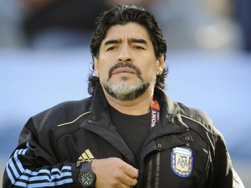 احتفال غير مقبول من مارادونا بتأهل الأرجنتين لنهائى المونديال