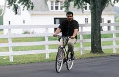 Mahommed on a bike
