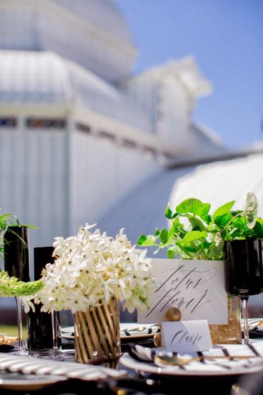 una boda en blanco y negro