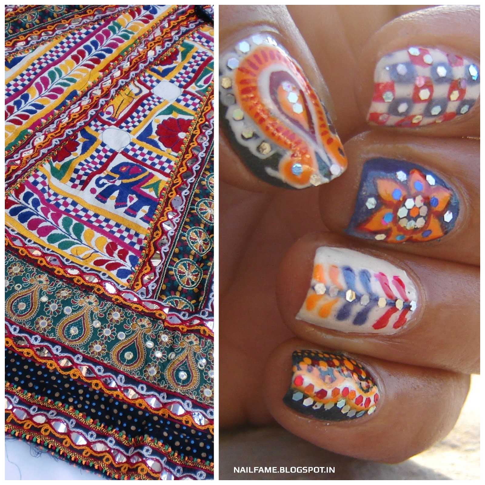 Nailfame festivity is in the air navratri special nailart navratri special nailart prinsesfo Choice Image