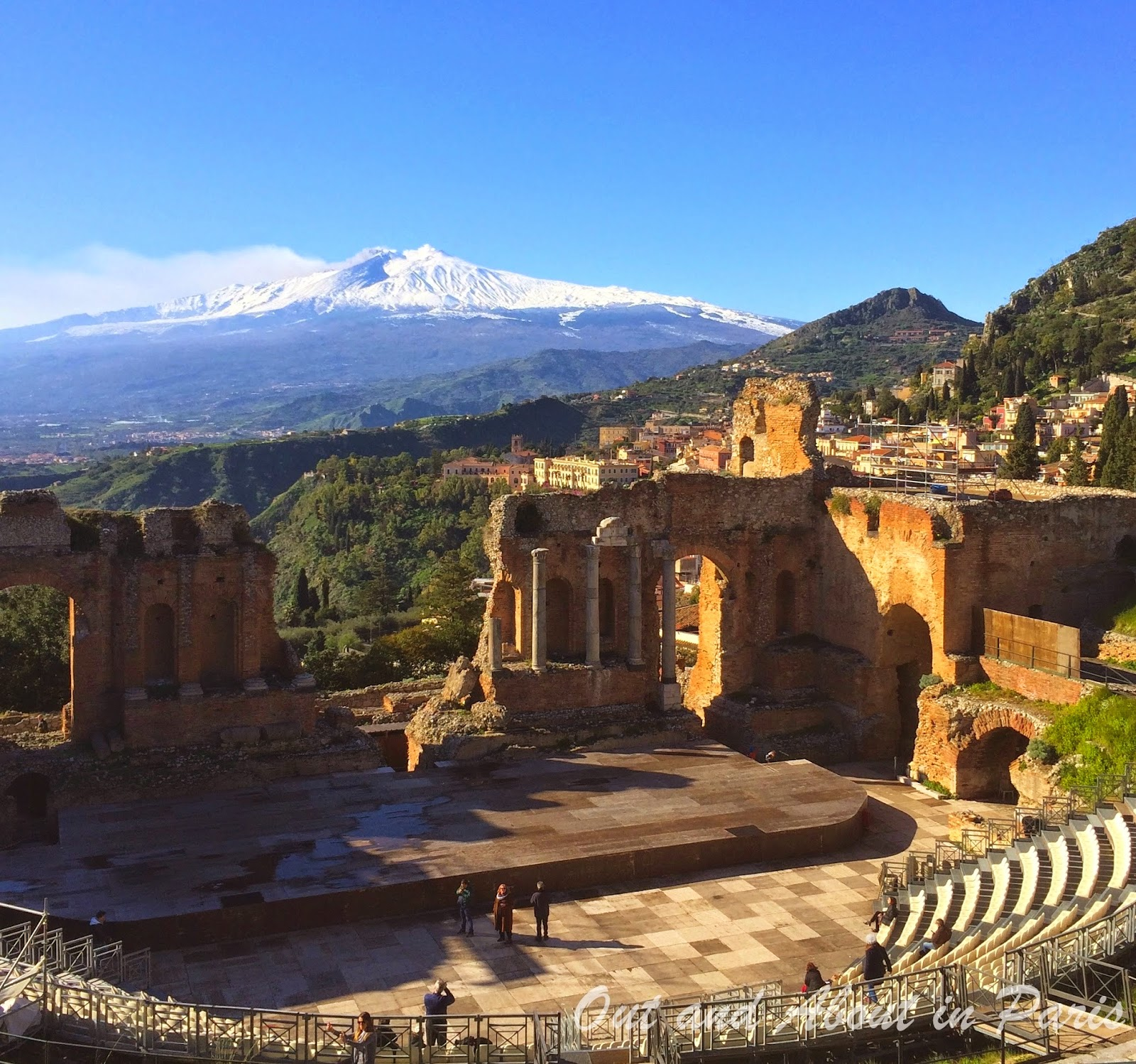Snowy taormina and spectacular castelmola the best views for Taormina sicilia