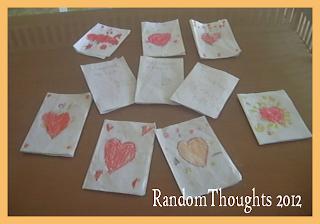 Preschool Hand-made valentine card