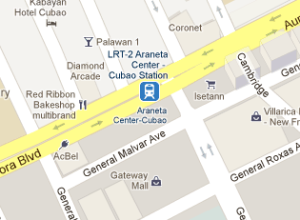 LRT-2 Araneta Center Cubao Station Map