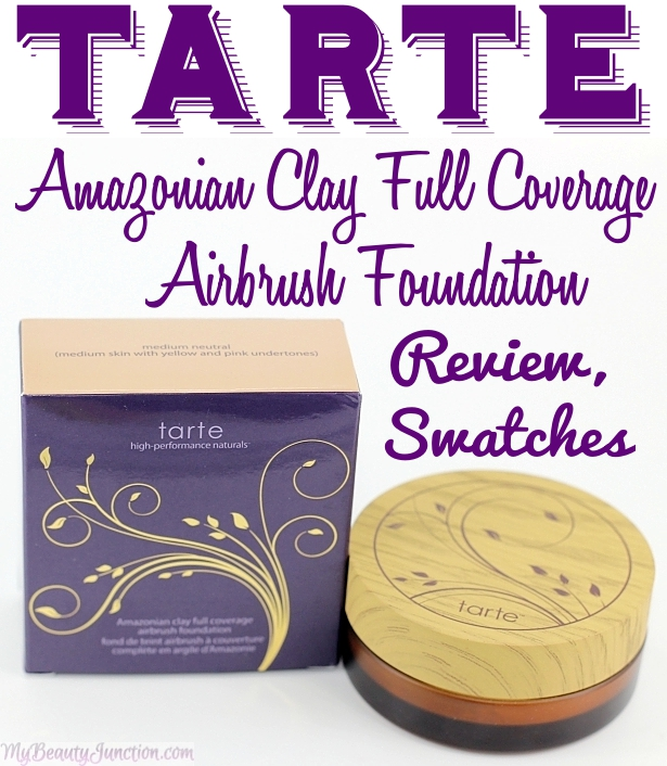 Tarte Amazonian Clay Full Coverage Powder Foundation review, swatches, FOTD