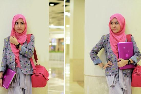 Kumpulan Model Jilbab Cantik untuk Ke Kantor Terbaru 2014
