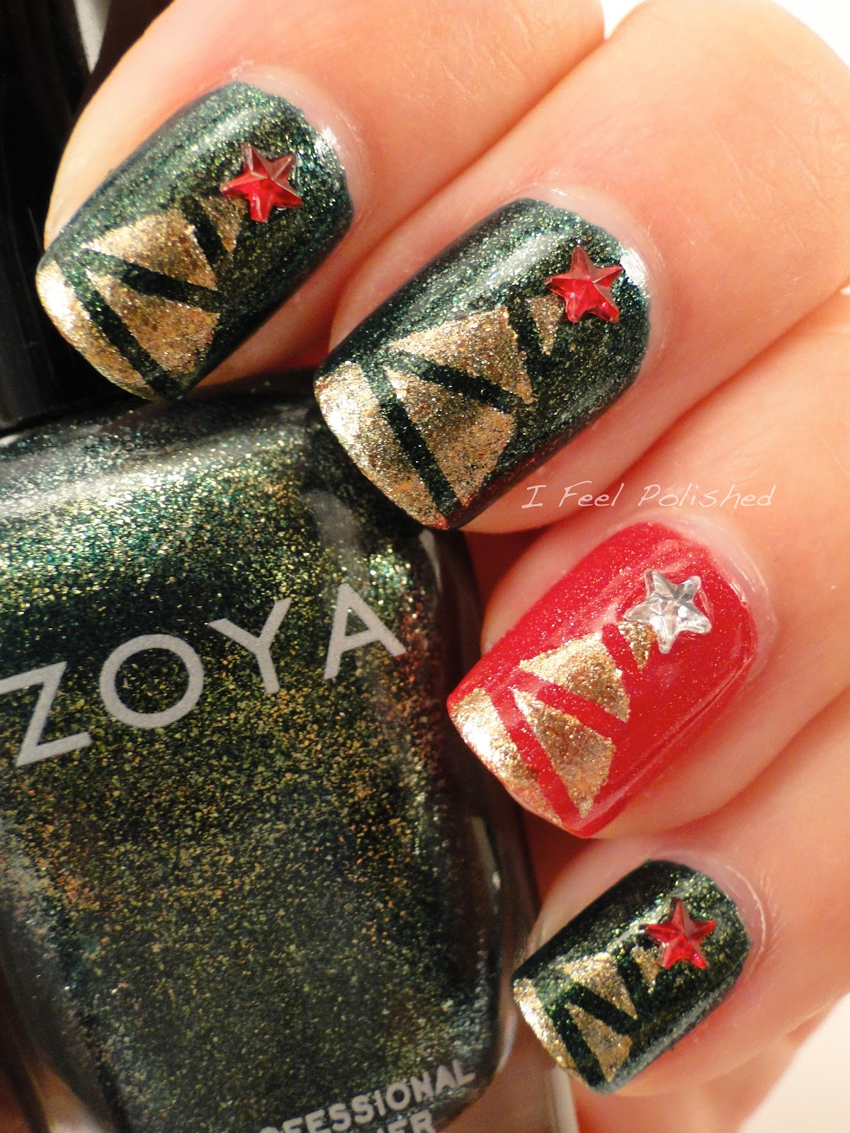 I Feel Polished!: Christmas Tree Nails