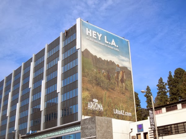 Hey L.A. Arizona tourism billboard