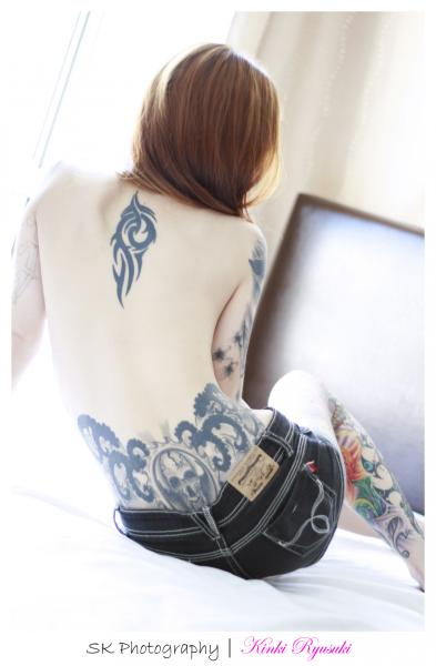 sexy models exposed sexy kinki ryusaki tattoo body art