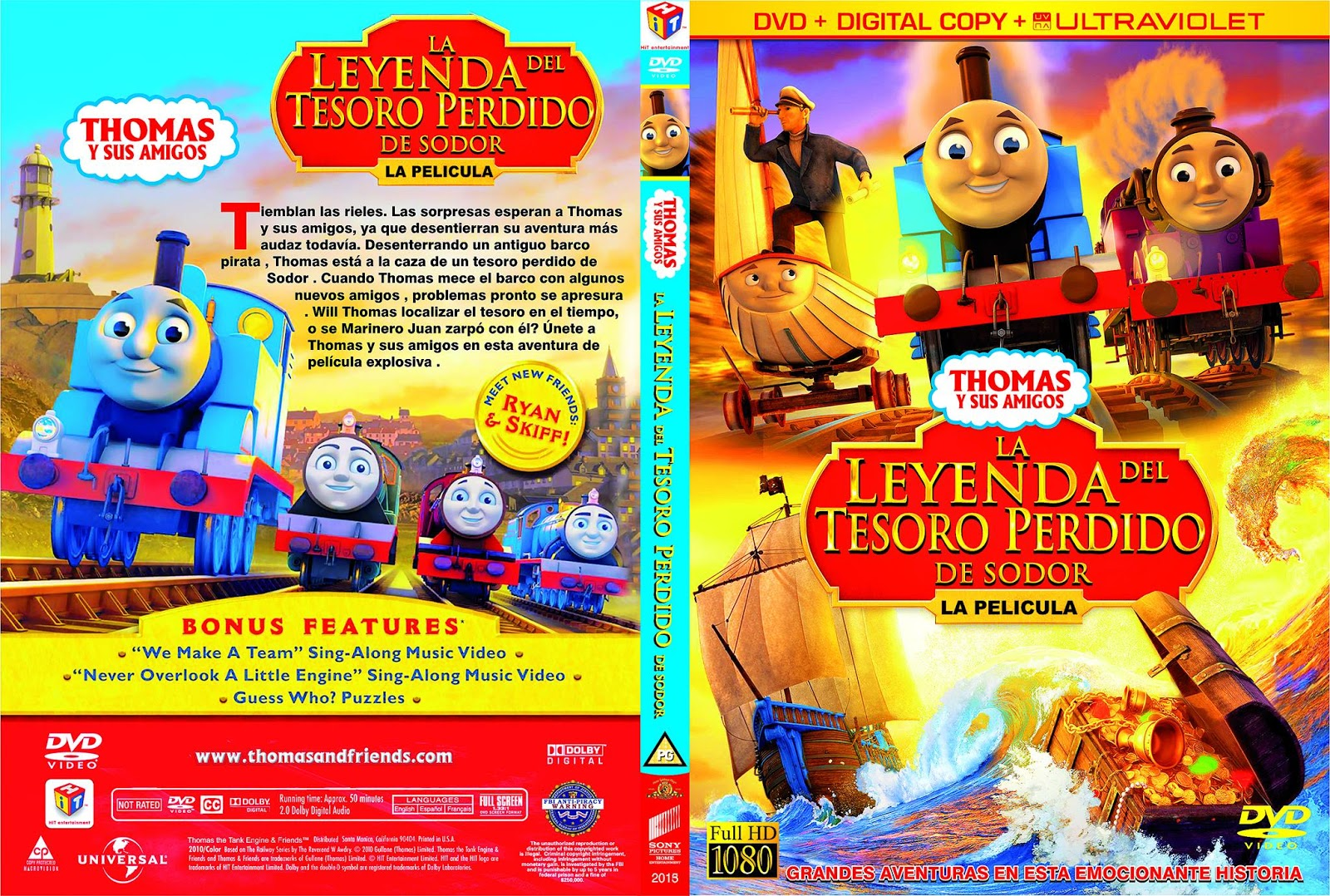 Thomas e Seus Amigos A Lenda do Tesouro Perdido O Filme DVDRip Dublado Thomas  26 Friends Sodor 27s Legend of the Lost Treasure  CoveRdvdGratiS
