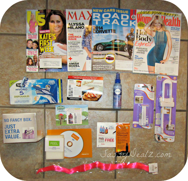 mailbox freebies august sassy dealz
