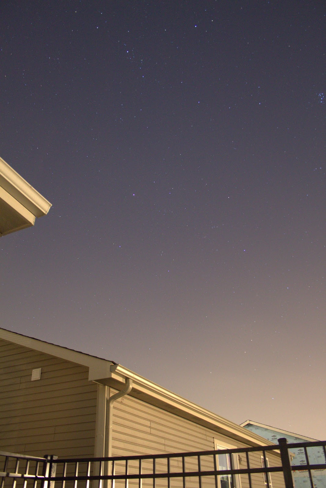 perseus constellation over house