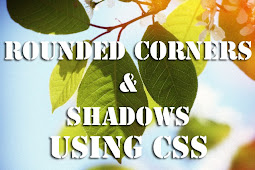 Rounded Corners and Shadows for Images using CSS
