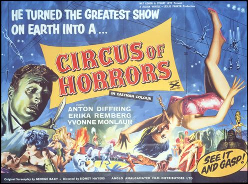 Circus of horrors 1960