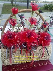 Bunga Stokin Ros Merah