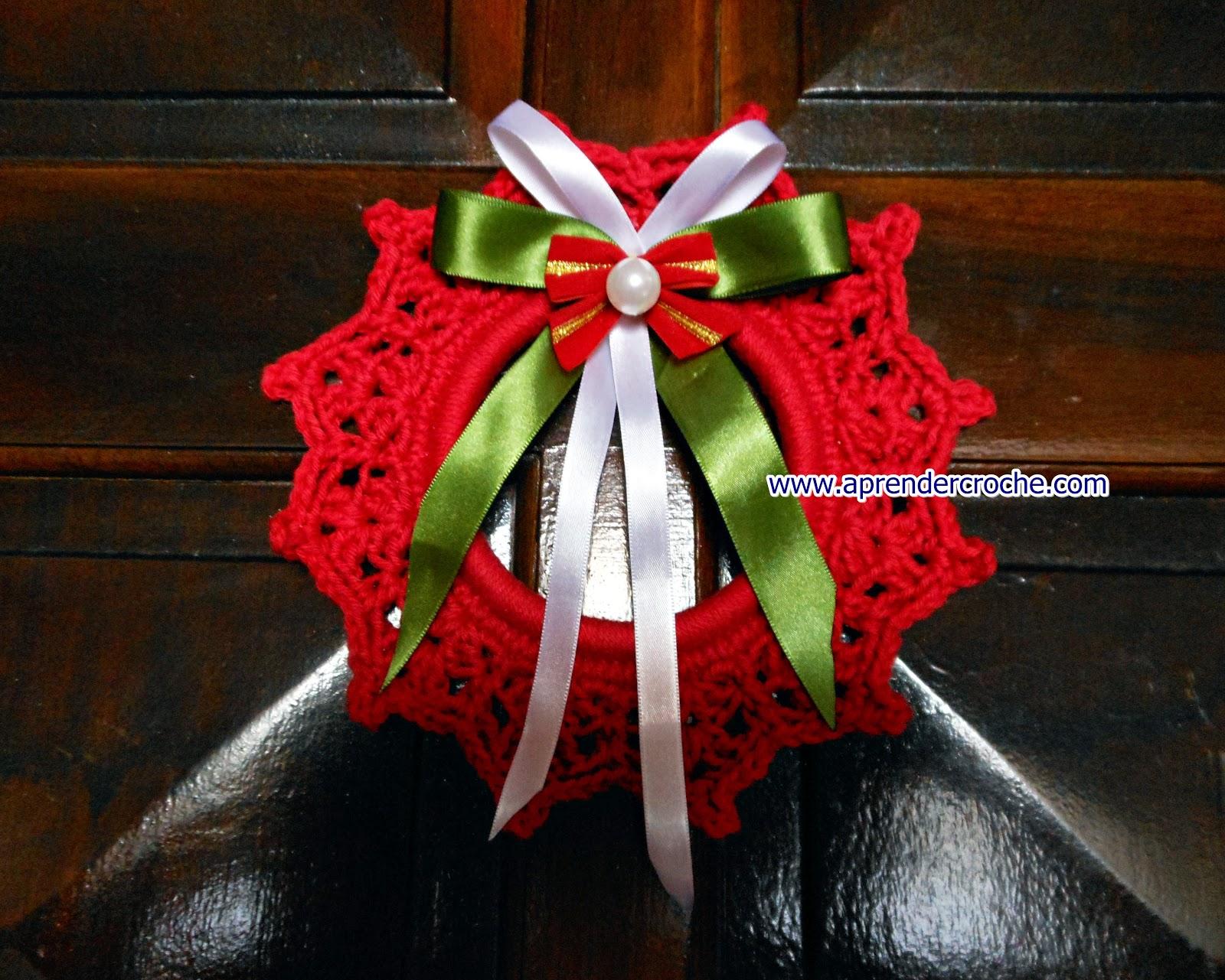 aprender croche natal guirlanda porta laços fitas edinir-croche dvd maxcolor barroco circulo loja frete gratis youtube facebook